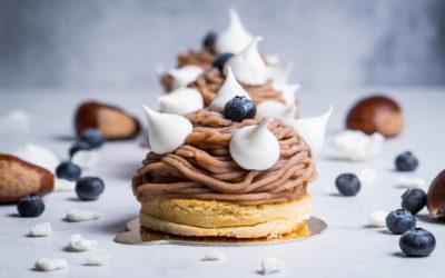 Gâteau Mont Blanc à la crème de marron